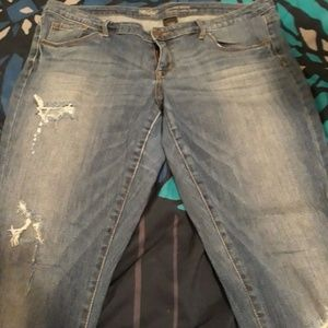 Womens Size 14 Skinny Distressed Jeans